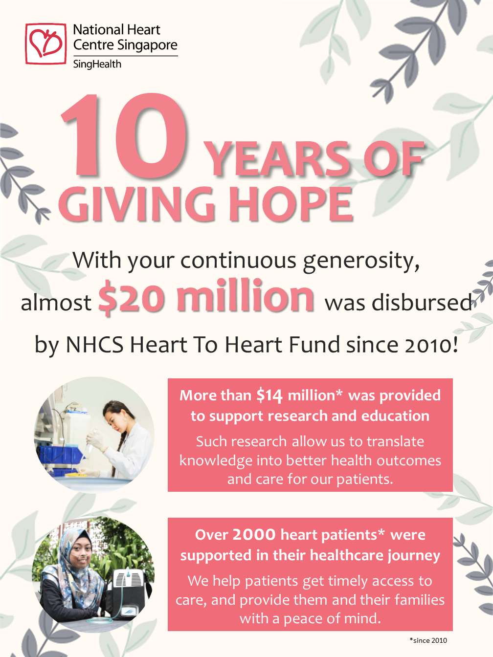 NHCS Fundraising Disbursement from 2010