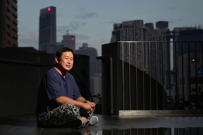 Construction engineer Alvin Pang was devastated when he found out that his colon cancer had spread to his peritoneum in September 2019.ST PHOTO GIN TAY