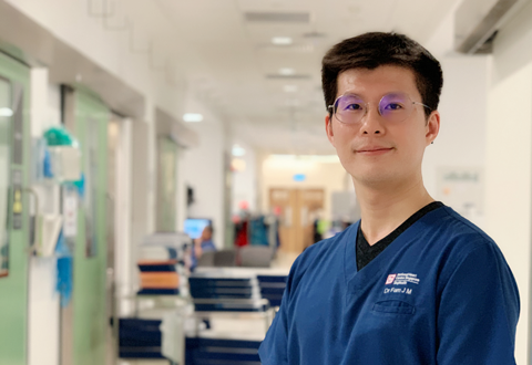 Interventionist Asst Prof Fam Jiang Ming doesn't just treat patients, he believes in looking out for one another too.